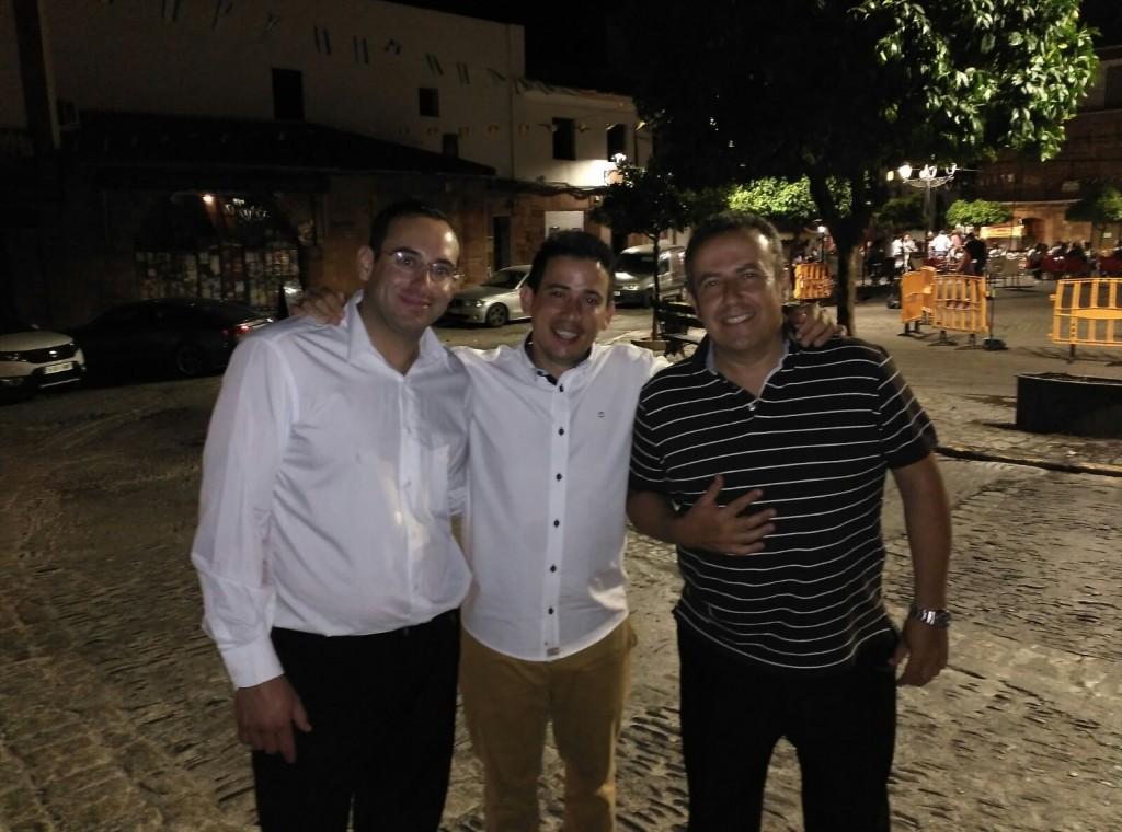 Con Pedro Mayoralas y José Manuel Hidalgo (Campeón de España 2014)